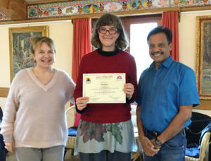 Nina with Dr N. Chandrasekaran and Yana Tomasovicova
